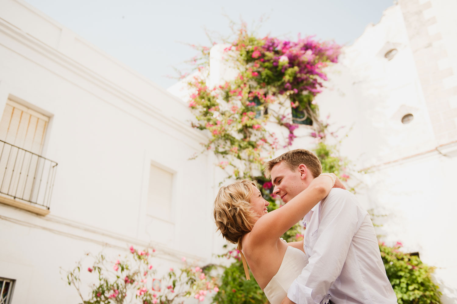 Intimate wedding photos in Gibraltar Tarifa